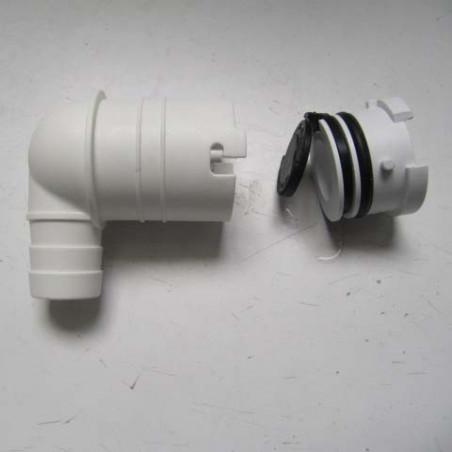 Complete non-return valve elbow